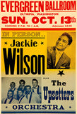 Jackie Wilson - The Upsetters - 1963 - Concert Poster