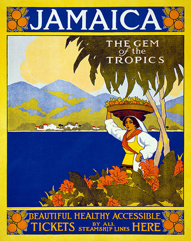 Jamaica The Gem Of The Tropics - 1910 - Travel Poster