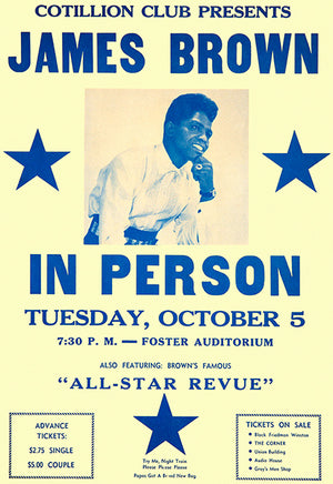 James Brown - 1965 - Foster Auditorium - Concert Poster
