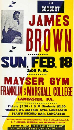 James Brown - Lancaster PA - 1965 - Concert Poster