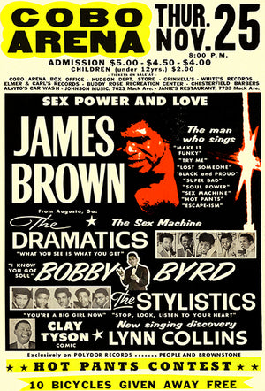 James Brown - Cobo Arena - Detroit - 1971 - Concert Poster
