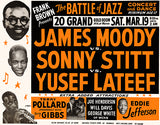 James Moody - Sonny Stitt - Yusef Lateef - Battke Of Jazz - 1955 - Concert Poster