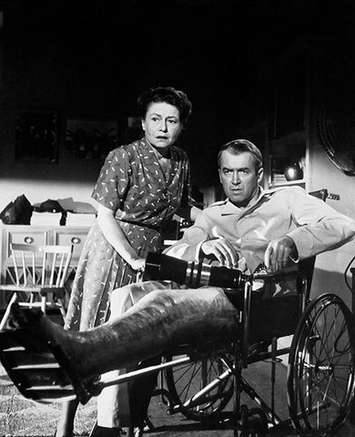 James Stewart - Thelma Ritter - Rear Window - Movie Still Poster