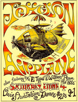 Jefferson Airplane - 1966 - Concert Poster