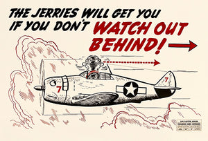 Jerries Will Get You - Watch Out - 1944 - Training Aids Aviation Magnet