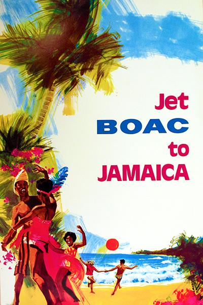 Jet BOAC To Jamaica - 1970 - Travel Poster Mug
