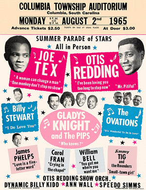 Joe Tex - Otis Redding - 1965 - Concert Magnet