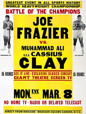 Joe Frazier vs Muhammad Ali - 1971 - Fight Promotion Mug