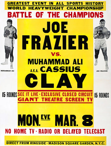 Joe Frazier vs Muhammad Ali - 1971 - Fight Promotion Poster