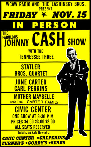 Johnny Cash Show - June Carter - 1968 - Concert Poster