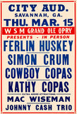 Johnny Cash Trio - 1956 - Concert Poster