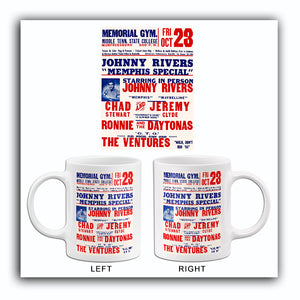 Johnny Rivers - Chad And Jeremy - 1964 - Concert Mug