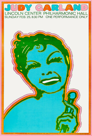 Judy Garland - 1968 - Lincoln Center - Concert Poster