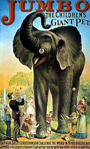 Jumbo Elephant - Giant Pet - Barnum, Bailey And Hutchinson - Circus Poster Magnet