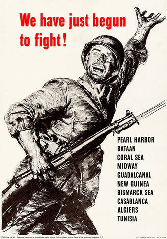 Just Begun To Fight - Pearl Harbor - 1942 - World War II - Propaganda Poster