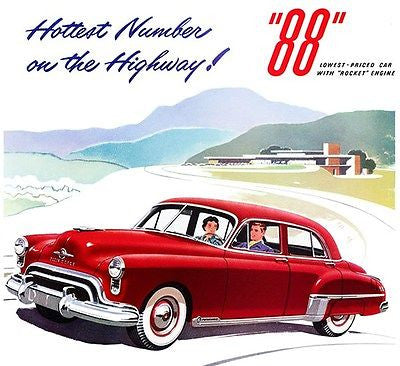 1949 Oldsmobile 88 - Promotional Advertising Poster
