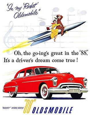 1950 Oldsmobile - Promotional Advertising Poster