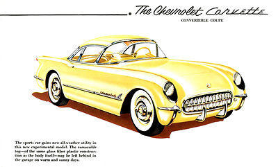 1952 Chevrolet Corvette Convertible Coupe Concept - Promotional Advertising Poster