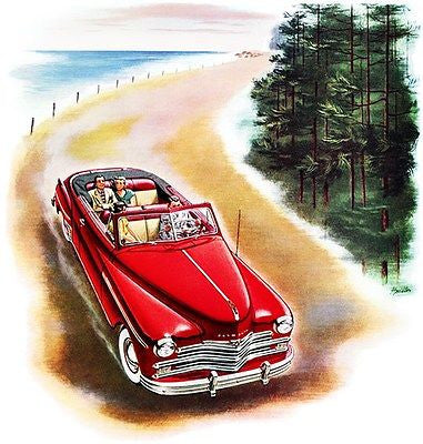 1949 Plymouth Convertible - Promotional Advertising Poster