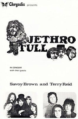 Jethro Tull - Savoy Brown - 1969 - Concert Poster