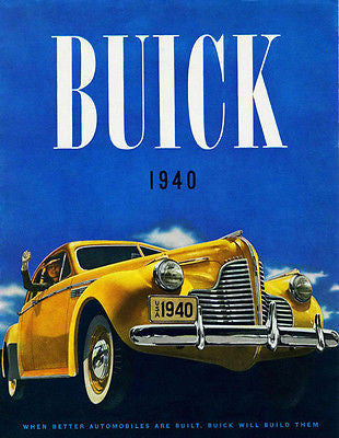1940 Buick - Promotional Advertising Poster