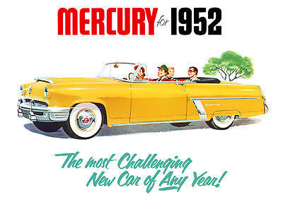1952 Mercury Monterey Convertible - Promotional Advertising Poster