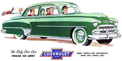 1952 Chevrolet Styleline De Luxe - Promotional Advertising Poster