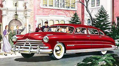 1950 Hudson Custom Commodore - Promotional Advertising Poster