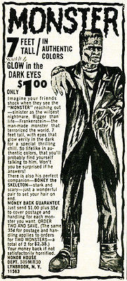 1950's Frankenstein Monster - Honor House Comic Book - Advertising POP Art Poster