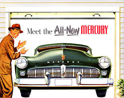 Meet the All-New 1949 Mercury - Promotional Advertising Poster