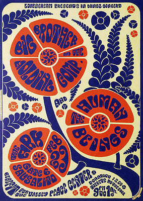 Big Brother and the Holding Company - The Human Beings 1967 - Concert Poster