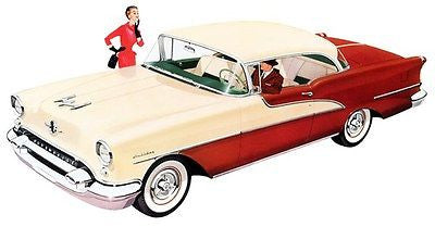 1955 Oldsmobile 98 DeLuxe Holiday Coupe - Promotional Advertising Poster
