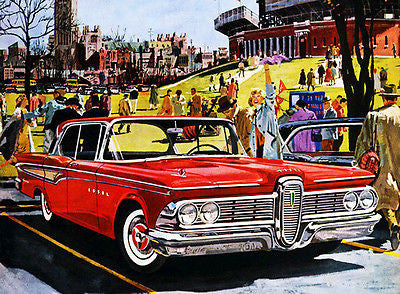 1959 Ford Edsel Corsair - Promotional Advertising Poster