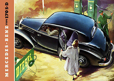 1954 Mercedes-Benz 170 S-D - Promotional Advertising Poster