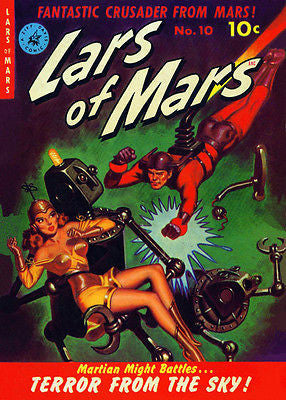 Lars of Mars #10 - April - May 1951 - Comic Book Cover Poster