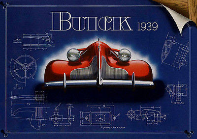 1939 Buick - Promotional Advertising Poster