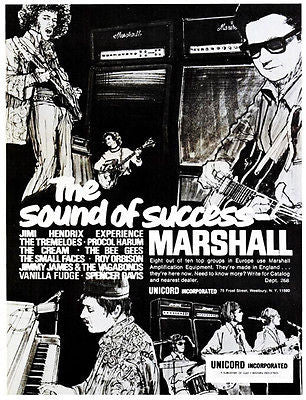 Marshall Amps 1968 The Sound of Success - Advertising Poster