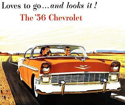 1956 Chevrolet Bel Air Sport Sedan - Promotional Advertising Poster