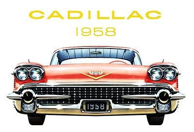 1958 Cadillac - Promotional Advertising Poster