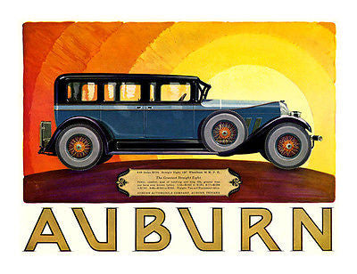 1927 Auburn Sedan - Promotional Advertising Poster