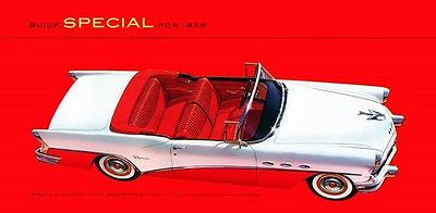 1956 Buick Special Convertible Model 46C - Promotional Advertising Poster