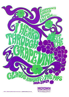 Gladys Knight - I Heard It Through the Grapevine - 1967 - Single Release Poster