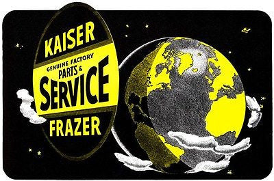 "1948 Kaiser-Frazer ""Service Covers the Globe"" - Promotional Advertising Poster"