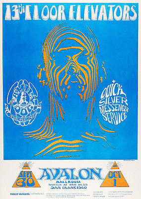 13th Floor Elevators - Quick Silver Messenger Service - 1966 - Avalon Ballroom - Concert Poster