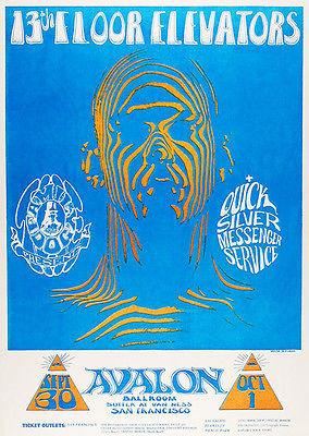 13th Floor Elevators - Quick Silver Messenger Service - 1966 - Avalon Ballroom - Concert Poster Mug