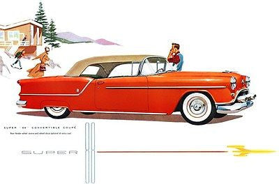 1954 Oldsmobile Super 88 Convertible Coupe - Promotional Advertising Poster