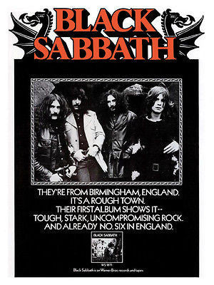 Black Sabbath - First Album - 1970 - Album Release Promo Poster