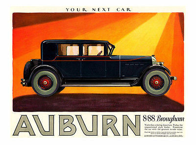 1927 Auburn 8-88 Brougham - Promotional Advertising Poster