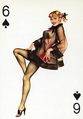 6 of Spades 1950's Pin up Poster