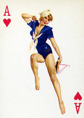 Ace of Hearts - 1950's - Pin Up Poster